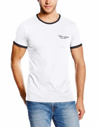 Teddy Smith Men's Plain or unicolor Round Collar Short sleeve T-Shirt - Black - Large