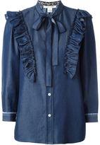 Marc Jacobs ruffled denim shirt