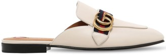 Gucci 10mm Peyton Gg Leather Mules
