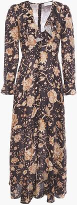 Zimmermann Veneto Ruffle-trimmed Floral-print Linen Maxi Dress