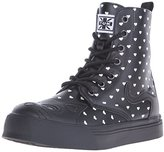 T.U.K. Women's Heart Print Kitty High Top Combat, Boot