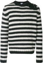 Loewe striped button-embellished sweater - men - Alpaca/Virgin Wool - XS