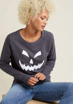 ModCloth Face It Glow-in-the-Dark Graphic Sweatshirt in S
