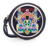 Mary Katrantzou Butterfly-Embroidered Leather Wristlet