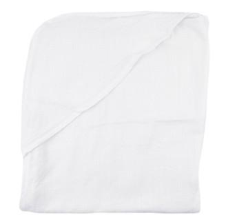 House of Jude Hooded Baby Turkish Towel Vanilla