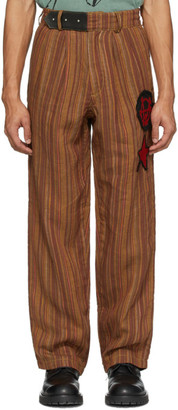 Worstok Multicolor Linen Lounge Trousers