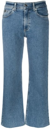 Calvin Klein Wide-Leg Cropped Jeans