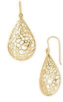 Teardrop Dome Lace Earrings
