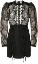 Self-Portrait lace applique fitted mini dress