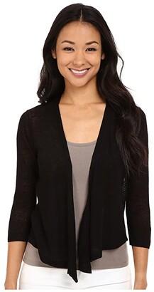 Nic+Zoe Petite 4 Way Cardy (Black Onyx) Women's Sweater