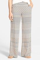 Ella Moss Mozaic Silk Wide Leg Pant