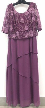 Le Bos Women's Embroidered Tiered Long Dress