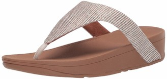 FitFlop Women's Lottie Glitter Stripe Toe-Post Thong