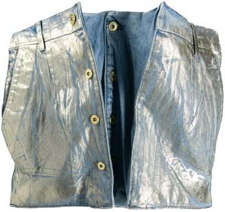 Y/Project Denim Metallic Deconstructed Skirt
