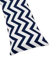 Sweet Jojo Designs Chevron Body Pillowcase in Navy/White