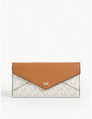 MICHAEL Michael Kors Monogramme print coated canvas long wallet