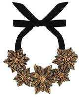 Forest of Chintz Gilded Dahlia Necklace
