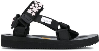 Cecilie Bahnsen Floral Detail Touch-Strap Sandals