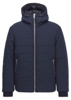HUGO BOSS - Reversible Jacket In Water Repellent Mixed Fabrics - Dark Blue