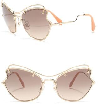 Miu Miu 61mm Butterfly Metal Sunglasses