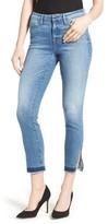 Good American Women's Good Legs Split Hem Crop Skinny Jeans