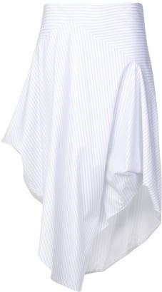 Chalayan Asymmetric Striped Skirt