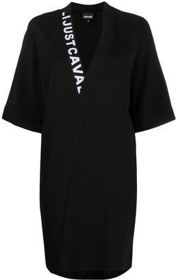 Just Cavalli Logo-Neck Mini Dress