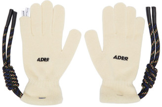 Ader Error Off-White Crumple Gloves