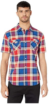 Levi's Beered Short Sleeve Woven Shirt (Lychee) Men's Clothing