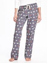 Old Navy Flannel Drawstring Sleep Pants for Women