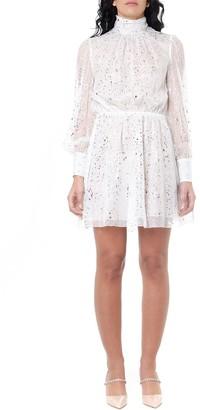 MSGM White Silk Metallic Dress