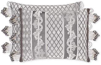 """J Queen New York Bel Air Silver 15"""" x 21"""" Boudoir Decorative Pillow Bedding"""
