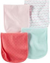 Carter's 4-pk. Pink Polka Dot Burp Cloths - Baby Girls newborn-24m