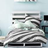 Aura by Tracie Ellis Kids Tilted Stripe Quilt Cover, Charcoal