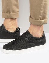 Selected David Leather Snake Sneakers