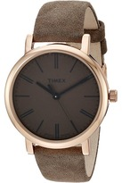Timex Originals Tonal Leather Strap Watch Watches