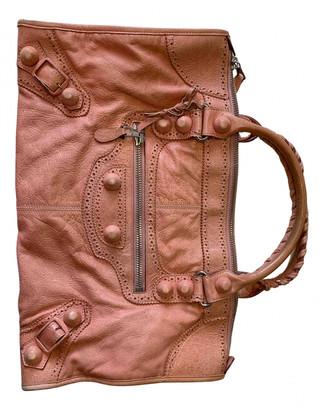 Balenciaga Weekender Pink Leather Handbags