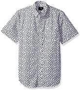 Obey Men's Monty Slim Fit Woven Short Sleeve