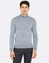 Oxford Merino Wool Crew Neck Pullover