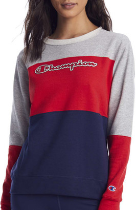 Champion Powerblend Color Block Sweatshirt