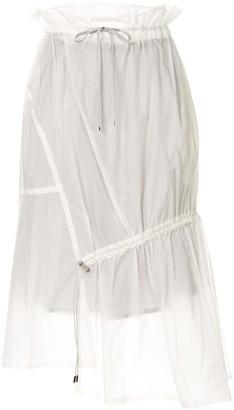 Ujoh Drawstring Detail Sheer Skirt