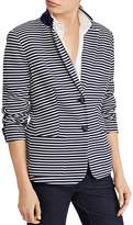 Lauren Ralph Lauren Striped Sweater-Knit Blazer