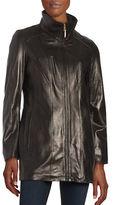 Ellen Tracy Zip-Up Leather Jacket