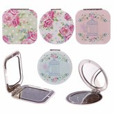 Laura Bell Chintz Floral Birdcage Compact Mirror (round with birdcage)