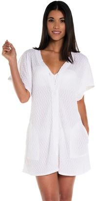 Jordan Taylor Plus Size Button-Front Swim Cover-Up