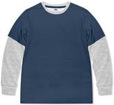 Highfive Crew HighFive Crew Boys' Tee Shirts - Cobalt & Gray Heather Layered Top - Boys