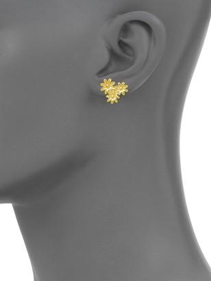 Sterling Forever 14K Yellow Goldtone Multi-Flower Stud Earrings