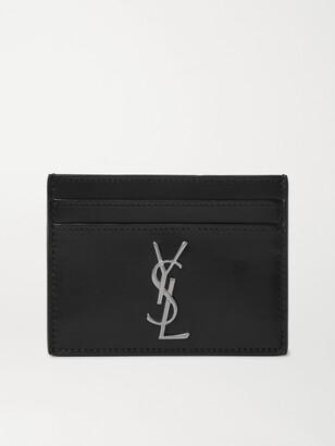 Saint Laurent Logo-Appliqued Leather Cardholder