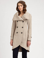 Mackage Double-Breasted Pop Trench