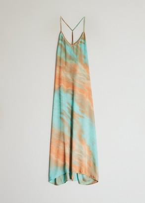 Farrow Women's Michelle Back Cowl Dress in Mint Tie Dye, Size Small